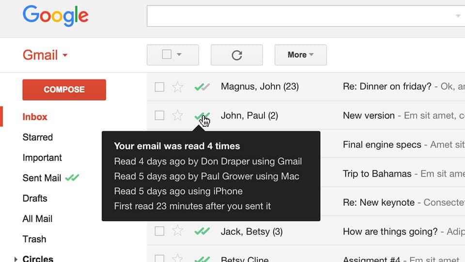 Cómo saber si los destinatarios leen un correo electrónico enviado